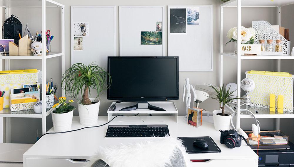 Jak si zařídit pracovnu, aby se vám doma skvěle pracovalo