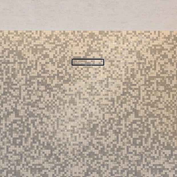 Nenápadný – Sprchový kanálek Geberit CleanLine je nyní k dispozici také v malých formátech a jako model pro výplň vlastními dlaždicemi. Foto Geberit