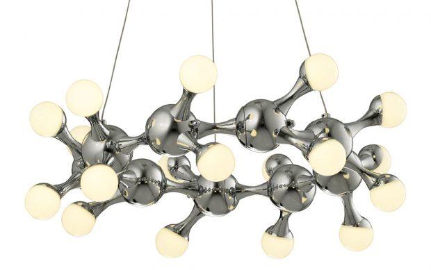 Flair Petunia, závěsné LED osvětlení, zaujme svým vtipným designem. Kov vbarvě chromu, barva světla teplá bílá. Cena 8650 Kč. www.hornbach.cz