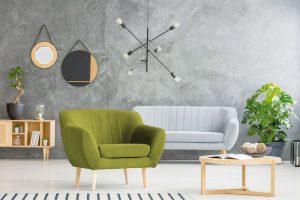 Křeslo Sardaigne (Mazzini Sofas), masivní bukové dřevo, dřevotříska, dřevovláknitá MDF deska, vysoce pružná polyuretanová pěna, hebká tkanina, 73 x 73 x 83 x 102 cm, www.bonami.c