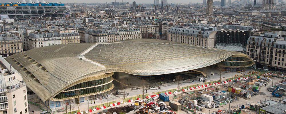 Pasáž Canopée v pařížské čtvrti Les Halles