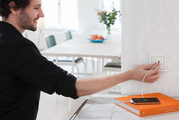 USB zásuvka FOTO Hager Electro