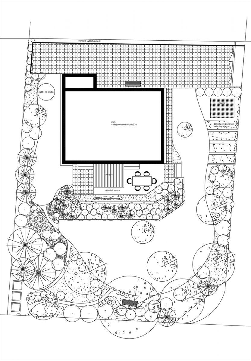 Všechny plány si zaznamenjete na papír. Zjednodušený projekt si nakreslete klidně rukou na větší formát papíru. Zachovejte ovšem měřítko.