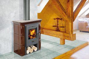Kachlová kamna Broto budou díky ručně vyráběnému celokachlovému opláštění žhnout ještě dlouho po vyhasnutí ohně. Jmenovitý výkon 9,5 kW, účinnost 82,2 %. Více na www.mountfield.cz
