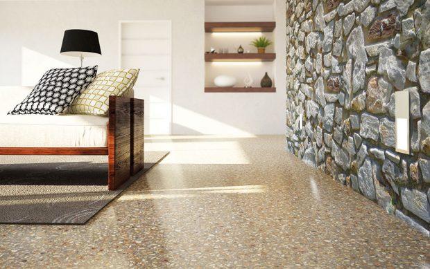 Cementový potěr CEMFLOW®Look společnosti Českomoravský beton, je skvělý pro barevné řešení podlahy vinteriéru, kde je díky zvýšené vlhkosti nutné použít právě cementový výrobek. www.lite-smesi.cz