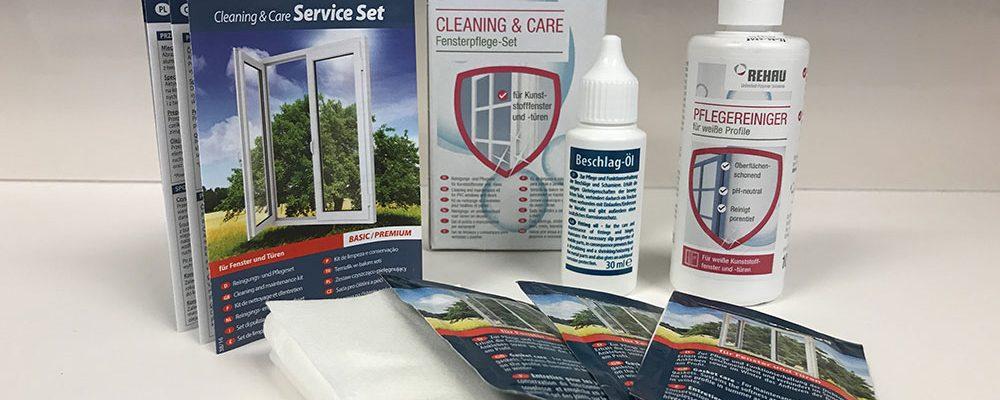 Čistící sada pro snadnou údržbu okenních profilů