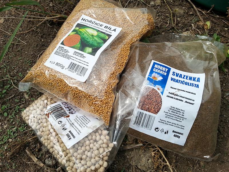 Zelené hnojení lze stihnout i na jaře.
