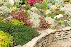 Skalka může být ozdobným prvkem bezprostředního okolí domu, navazovat na zídky, nebo lemovat terasy, schodiště achodníky. FOTO ISTOCK