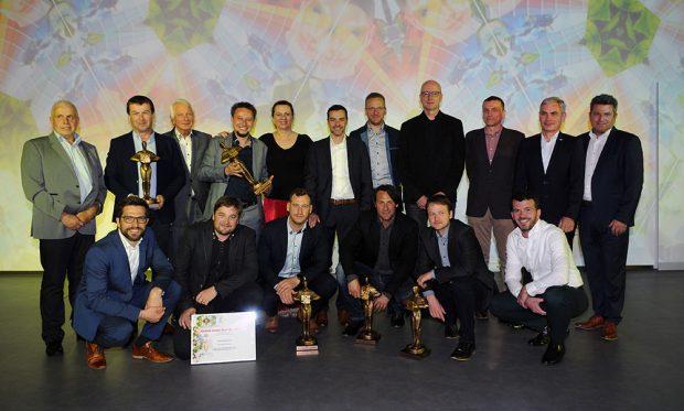 Vítězové jednotlivých kategorií soutěže Fasáda roku 2019. zdroj Baumit