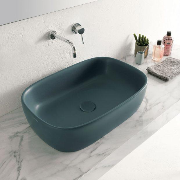 Oválné umyvadlo T EDGE (Globo) zdílny CreativeLab dováží aprodává koupelnové studio Perfecto design.