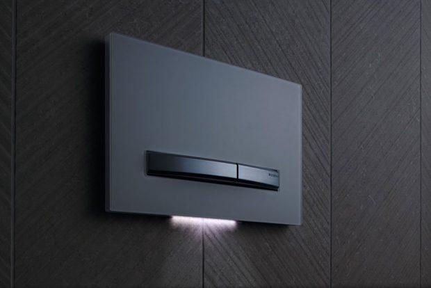 Geberit Sigma50 – Štíhlá, konvexně vypouklá tlačítka propůjčují modelu Sigma50 elegantní a luxusní vzhled. zdroj Geberit