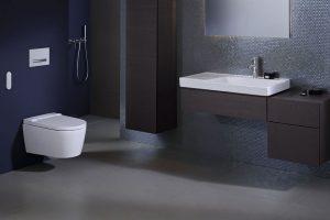 Nové sprchovací WC Geberit AquaClean Sela je dostupné s krytem z lesklého chromu nebo s plastovým krytem v barvě alpská bílá. Zdroj: Geberit.cz