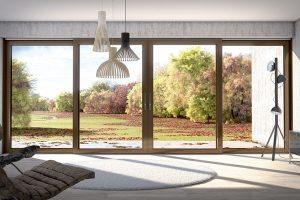 Nový posuvně-zdvižný systém Schüco LivIngSlide propojí interiér s domu s venkovní terasou. FOTO SCHÜCO CZ