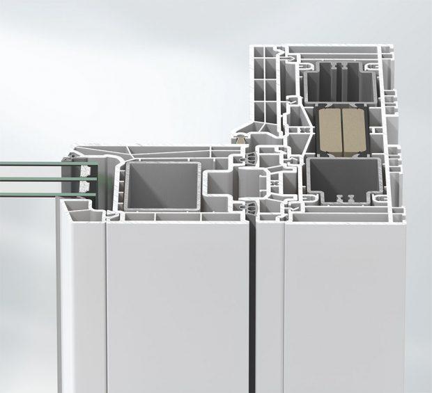 Plastové profily Schüco LivIngSlide vytvářejí čisté linie FOTO SCHÜCO CZ