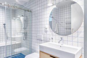 Díky nadsvětlíku smléčným zasklením je po rekonstrukci koupelna osvětlena denním světlem. FOTO BENEDIKT MARKEL ADOMINIK KUČERA