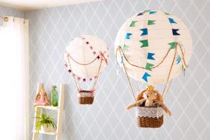 Papírový balón do dětského pokoje