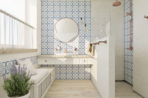 umývadlový prosto v koupelne