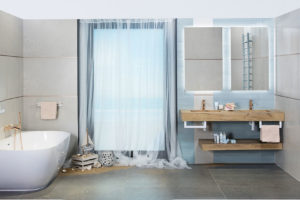 Přírodní motivy v koupelnách
