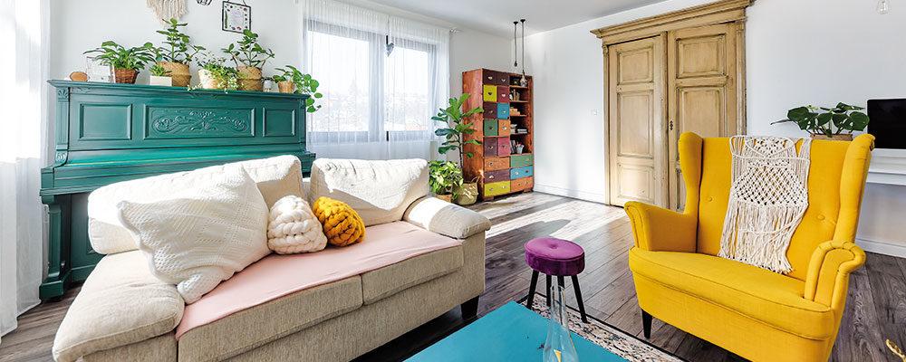 Zrekonstruovaný dům plný barev