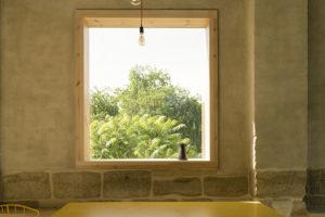 výhled z okna stodoly