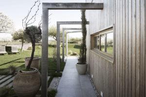drevená fasada domu