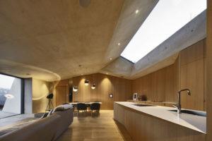společenské prostory obýváku s jídelnou