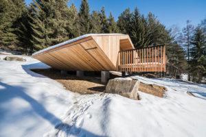horská chata v zime