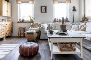 obývací pokoj ve venkovskem stylu