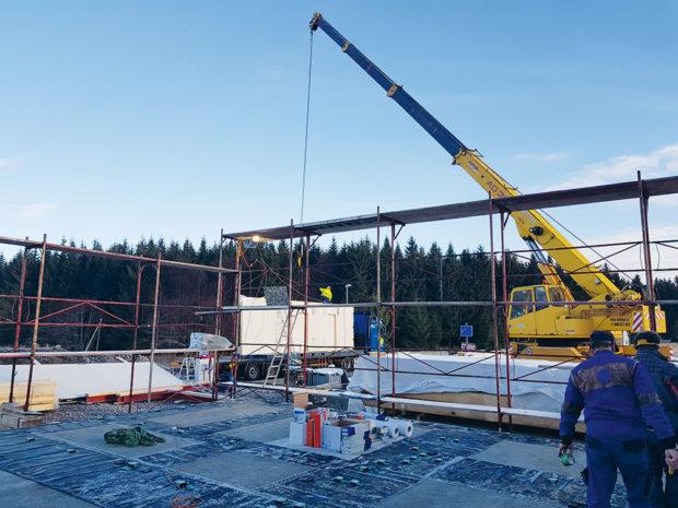 stavba domu pomocí techniky