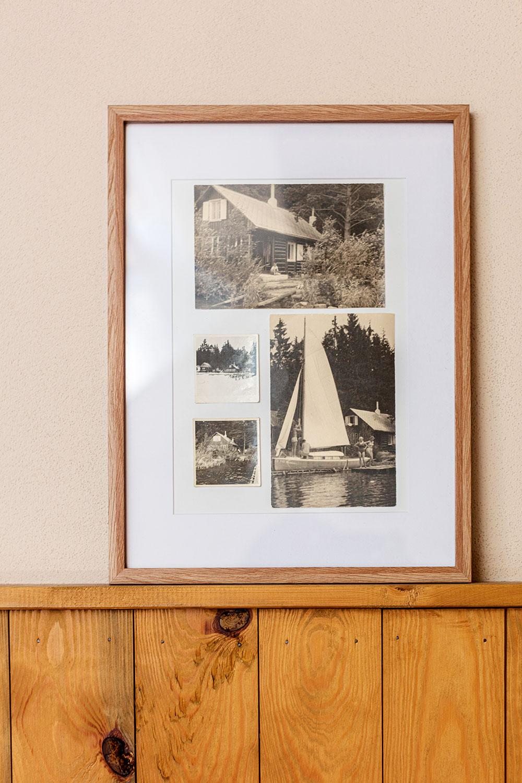 Na černobílých fotografiích je  zachycena původní chalupa, kterou vybudoval Markův dědeček a o kterou se Marek a jeho žena příkladně starají. FOTO JIŘÍ HURT
