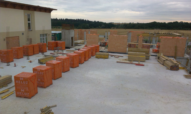 cihlová stavba