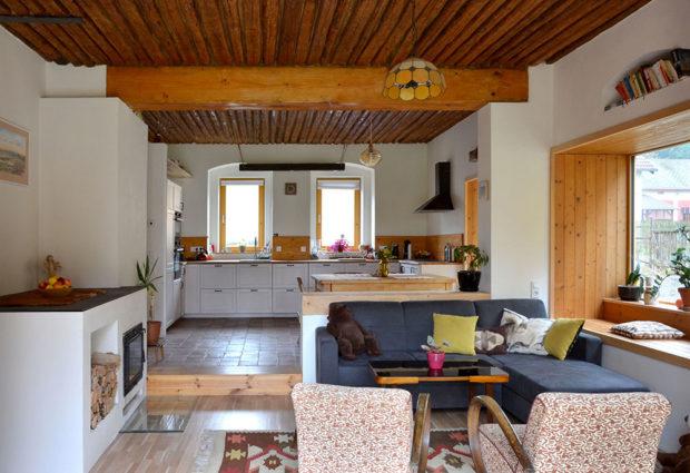 obývak s kuchyní