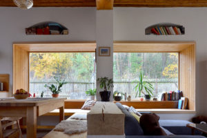 obývací pokoj s kuchyni