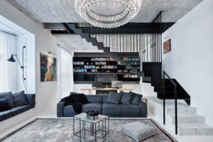 obývací pokoj v mezonetu