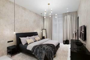 ložnice je zařízena minimalisticky