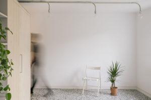 netradiční řešení osvětlení v centrální části bytu