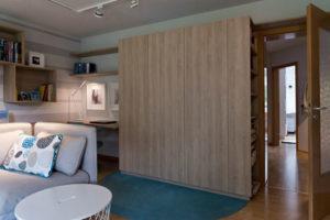 obývací pokoj a úložné prostory