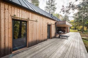 Dřevostavba Bernau s terasou