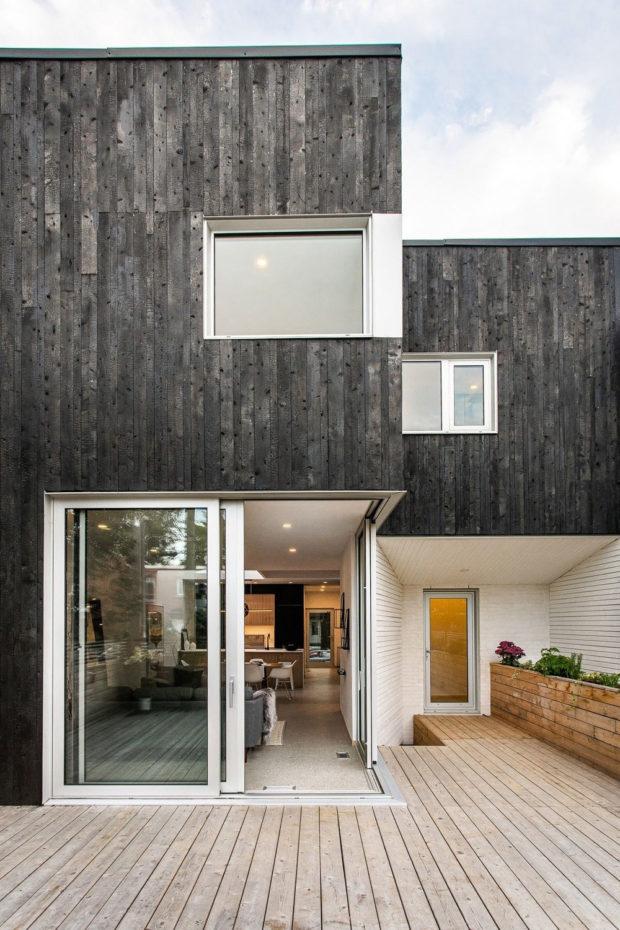fasada obložená drevem