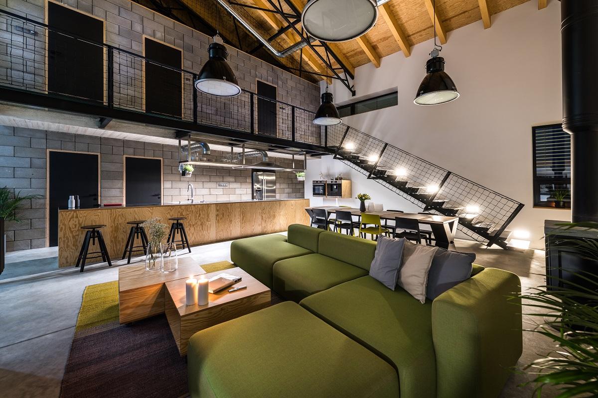 interiére v industriálním stylu
