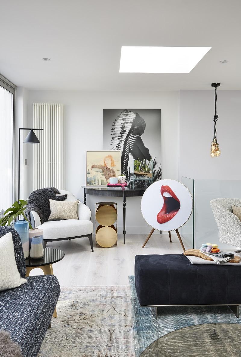 Interiér londýnského bytu