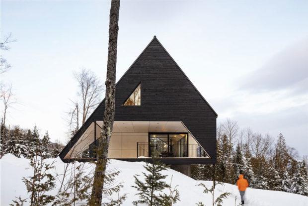 Chata A v zime