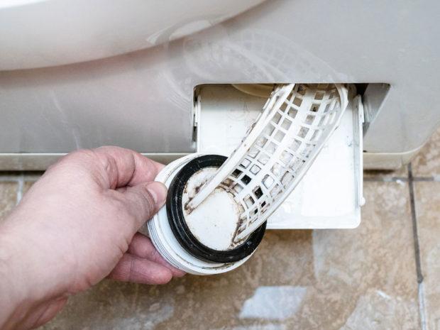 čistení filtru pračky