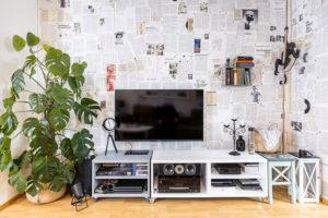 obyvací pokoj s televizi