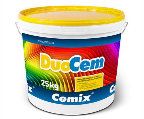 Tenkovrstvá omítka Cemix DuoCem v balení po 25 kg.
