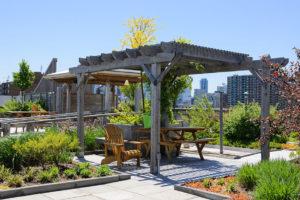 Posezení vegetační střecha