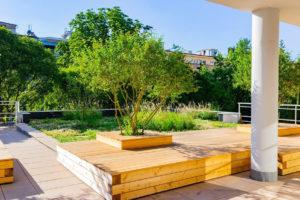 Relaxační střešní zahrada,