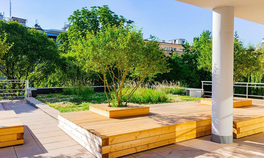 Relaxační střešní zahrada, 2019, Praha, Realizace a foto: Aleš Kurz
