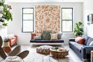 Otevřený obývací pokoj