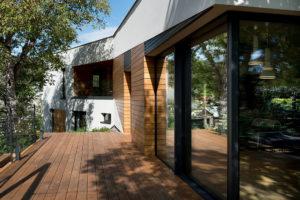 vonkajšia drevená terasa